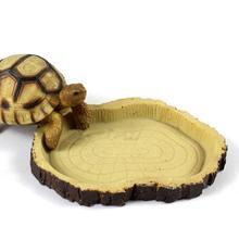 Блюдо из смолы для рептилий, миска для воды из вивария, животное, черепаха, геккон, змея, кормушка