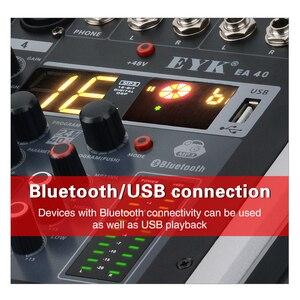 Image 5 - EYK EA40 4 Kanäle Mischen Konsole mit Stumm und PFL Schalter Bluetooth Rekord 3BAND 16 DSP wirkung USB Professional audio Mixer DJ