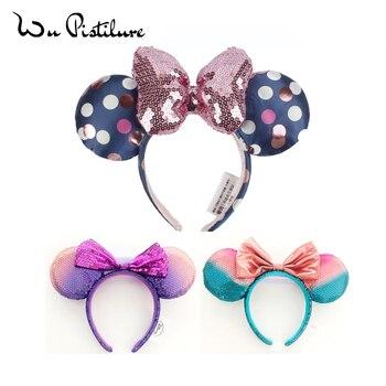 New Cute Cartoon Minnie Ears Headband Flowers headba EARS COSTUME Cosplay Plush Adult/Kids Gift