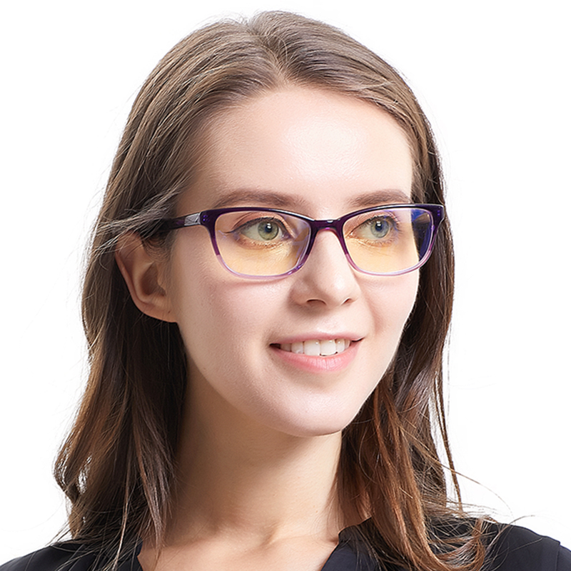 SASAMIA Acetate Eyeglasses Frame Women Designer Brand Glasses Optical Vintage Eyewear Frames Purple Eye Glasses Frames For Women