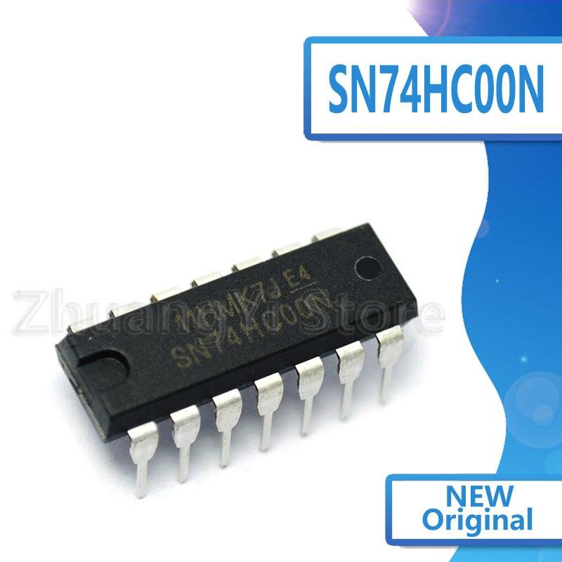 10pcs/lot SN74HC00N SN74HC00 DIP14 DIP 74HC00 New Original