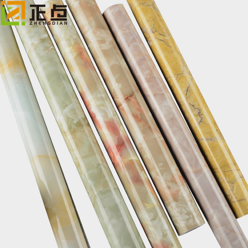 Marbling Wallpaper Self-Adhesive PVC Waterproof Kitchen Cabinet Stove Sticky Notes Wallpaper TV Backdrop Decoration Main Materia