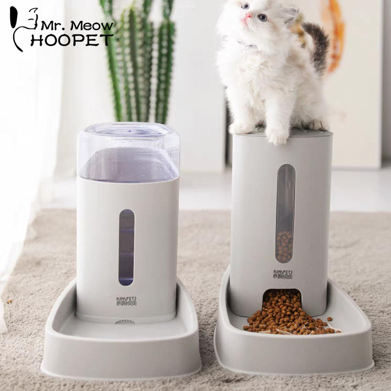 Bol para gatos Hoopet, tazón alimentador de agua para perros, gatos y gatitos cuenco para, fuente para beber, plato de comida para mascotas, productos para mascotas|Productos de alimentación para gatos| - AliExpress