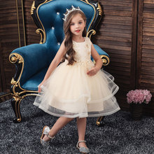 Kids Girls Dress Flower Girl Dresses Wedding Birthday Party Princess Dress Summer Kids Dresses For Girls Kids Clothes 3-12 Years цена 2017