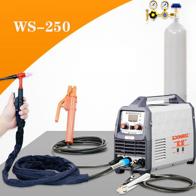 Portable Tig Welder 220V Power WS-200A 250A  Pulse Tig Arc 2 In 1 Professional Tig Argon Gas Welding Tig Welding Machine