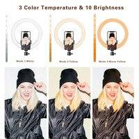 16, 26 см, USB светодиодный светильник, кольцевая фотовспышка с подставкой для штатива 130 см, для макияжа, Youtube, VK, Tik, Tok, видео, светильник с регули... 3