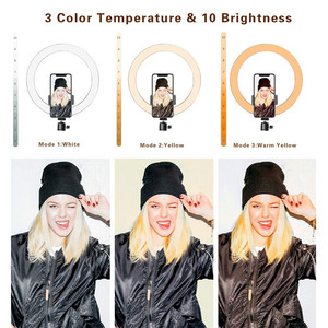 Image 4 - 16 26cm USB LED Ring Light Photography Flash Lamp With 130cm Tripod Stand For Makeup Youtube VK Tik Tok Video Dimmable Lighting