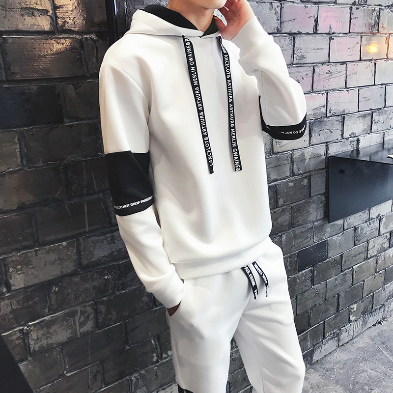 Hoodie Men's Hooded Korean-style Trend Students Spring And Autumn Couples Pullover Hoodie Men Leisure Set Sports Jackets