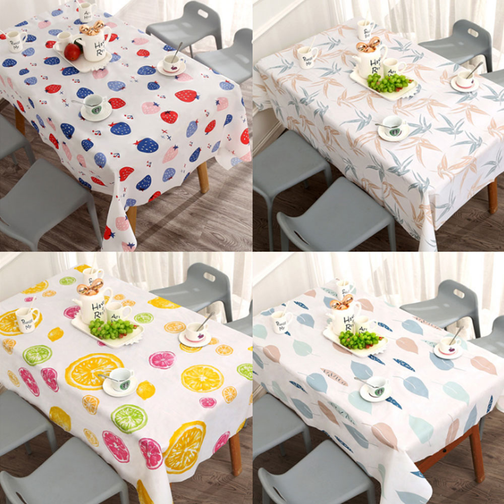 Ins Tablecloth Waterproof Oil-proof Washable Cloth Art TV Cabinet Tea Table PVC Plastic Ironing Proof Student Table Mat