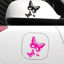 Adesivos de carro engraçado borboleta adesivo vinly para acessórios do carro auto estilo decoração do carro acessórios