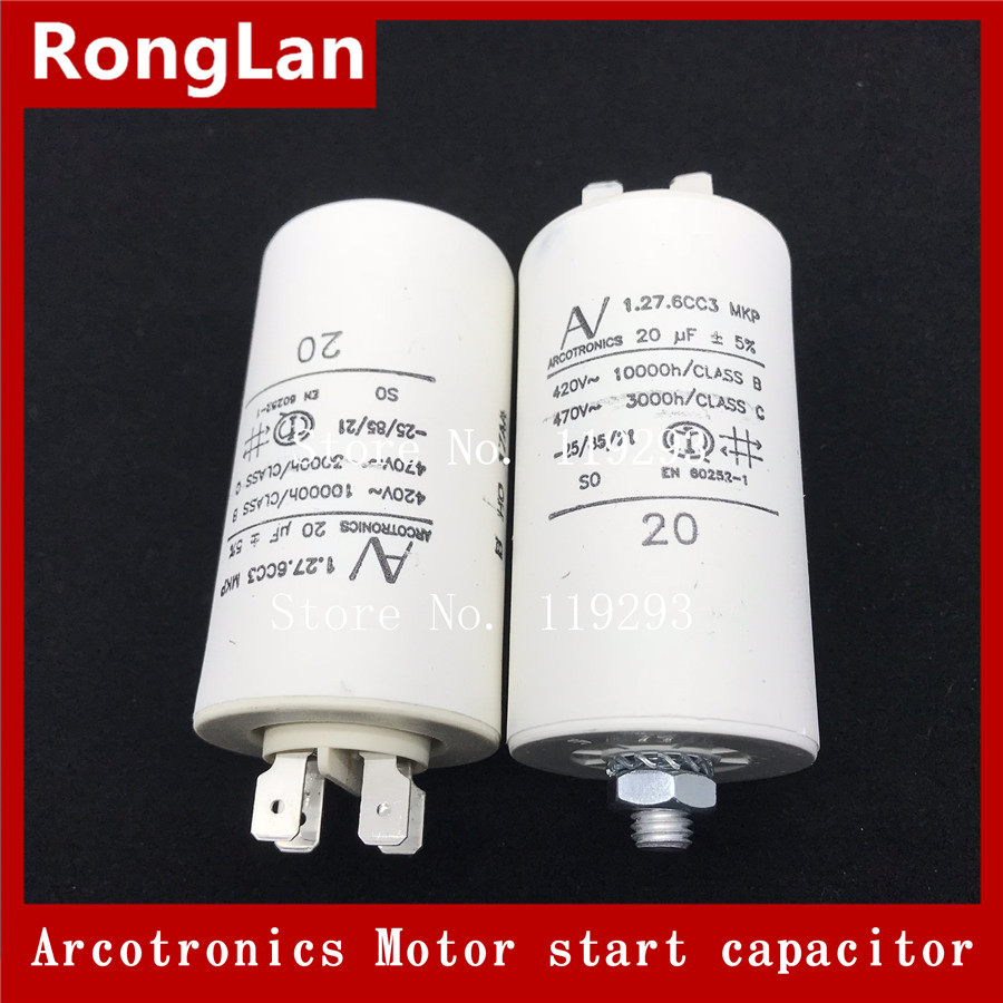 BELLA Original authentic Arcotronics 1 27 6CC3 MKP 2 5uf 4UF 8UF 16UF 20UF 25UF 30UF 50UF 5 of the motor start capacitors in Capacitors from Electronic Components Supplies