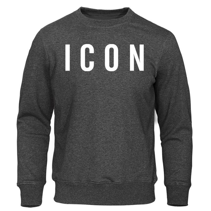 ICON Print Mens Hoodies 2019 Spring Autumn New Men's Sweatshirts Homme Tracksuit Fashion Men Clothing Hip Hop Male Sweatshirt