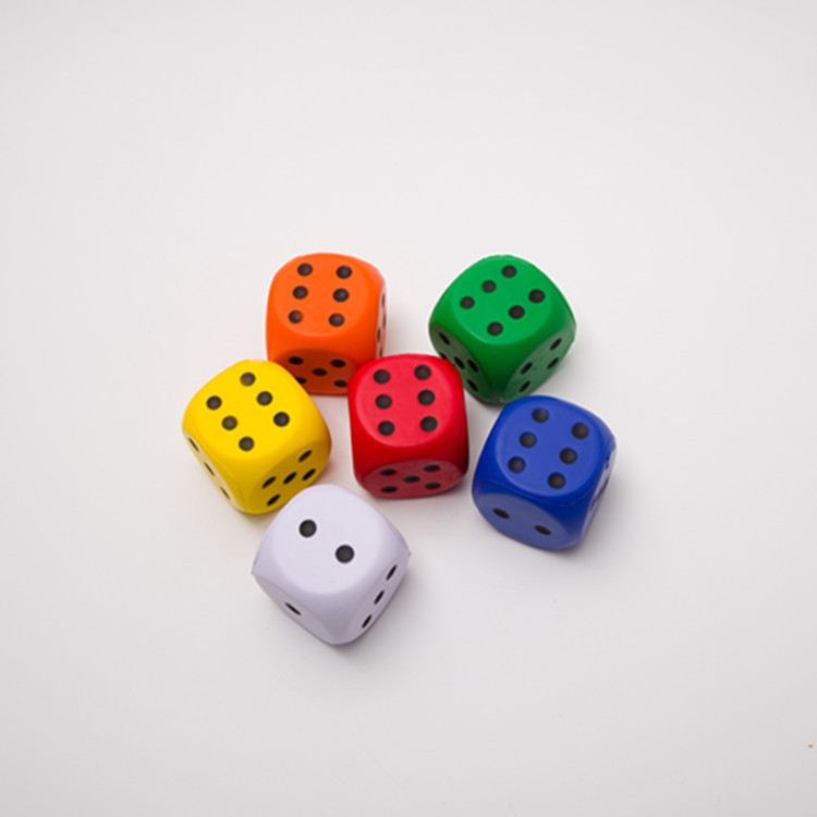 6 Centimeter Student Props Dice Kindergarten Toy Sponge Sieve Large Size Game Educational Dice 6 Color Selectable