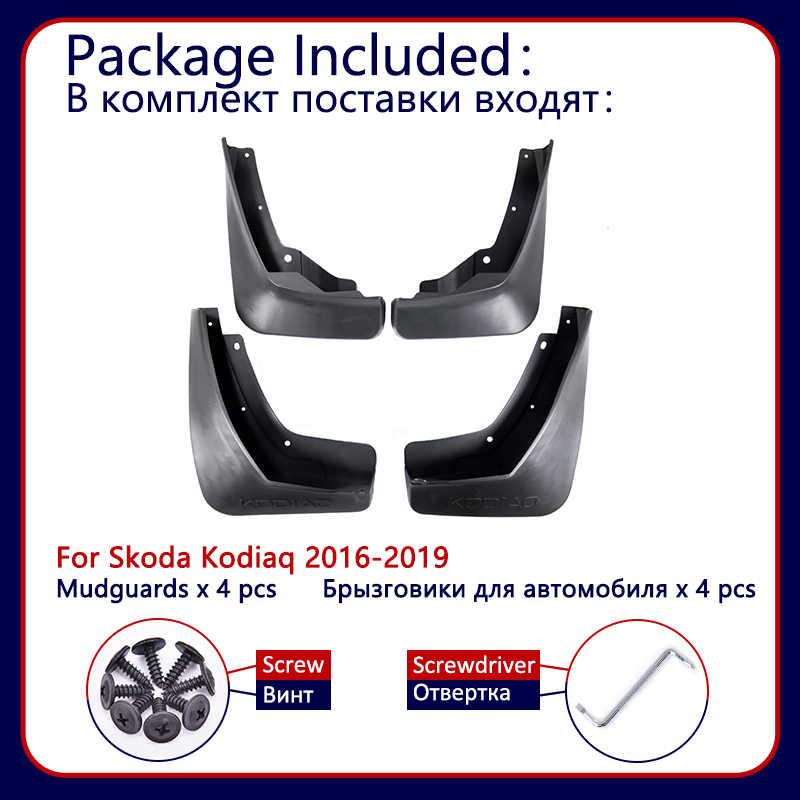 Untuk Skoda Kodiaq 2016 2017 2018 2019 Mudflaps Flaps Lumpur Flap Penjaga Splash Per Mobil Wheel Fender Depan Belakang Mobil aksesoris
