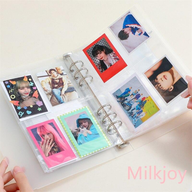 Milkjoy a5 binder photocard armazenamento coletar livro