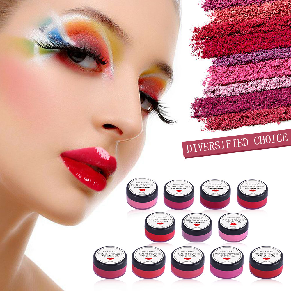 1-37 Colors Diy Lip Gloss Powder Material Lip Glaze Pigment For DIY Lipgloss Making Kit Long Lasting Lips Makeup 1g