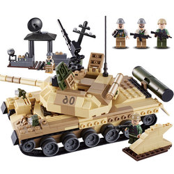 Goood puzzle insert and assemble military building blocks armed raid/T-62 tank children's play tools 600019A free shipping
