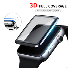 Screen Protector Clear Full Coverage Protective Film for iWatch 4 5 40MM 44MM Not Tempered Glass for Apple Watch 3 2 1 38MM 42MM cheap CN(Origin) Easy to Install G1-3801 for Apple Watch 54321 Series 38mm 40mm 42mm 44mm
