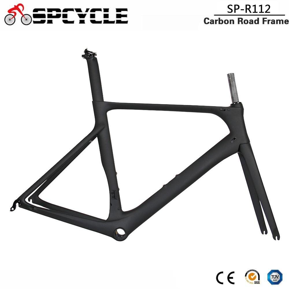 Spcycle 2019 New Aero Carbon Road Bike Frame 700C Carbon Road Bicycle Frames T1000 Carbon Racing Bicycle Frameset 50/53/56cm