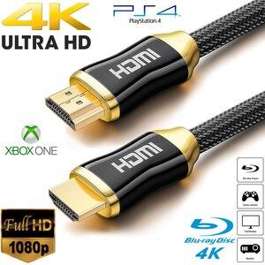 5 м 10 м Высокое качество плетеные HDMI кабели 4K V2.0 Ультра HD HDMI к HDMI кабель для HD TV LCD ноутбука проектор компьютера NE