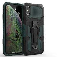 Funda de teléfono con soporte para Huawei Prime 2018 2019 Nova 2 Lite Y6S Y5 Y6 Y7 Y9 Pro, protección pesada, mech warrior, anticaída