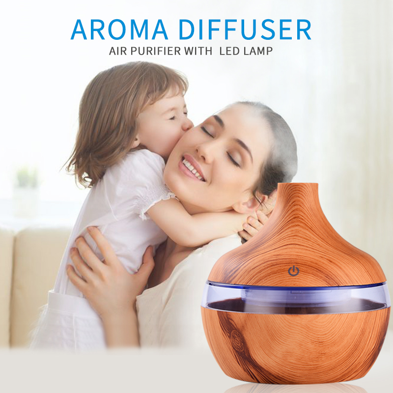 saengQ Ultrasonic Cool Mist USB Humidifier Air Purifier 7 Color Change LED Night light for Office  Aroma Essential Oil Diffuser|Humidifiers| |  - title=