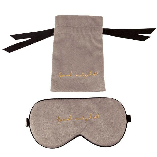 1 шт шелковая бархатная маска для сна натуральная накладка на