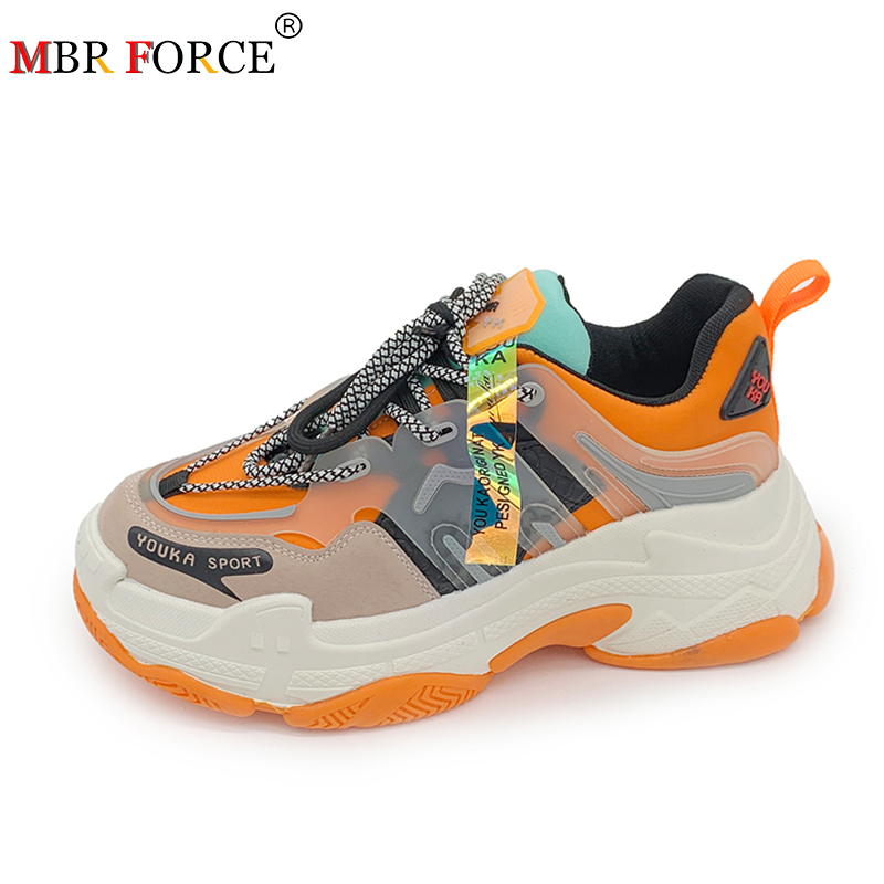 MBR FORCE New Sneakers Women 2020 Femme Casual Shoes Female Fashion Sneaker Lace Up High Leisure Women Vulcanize Shoe Platform