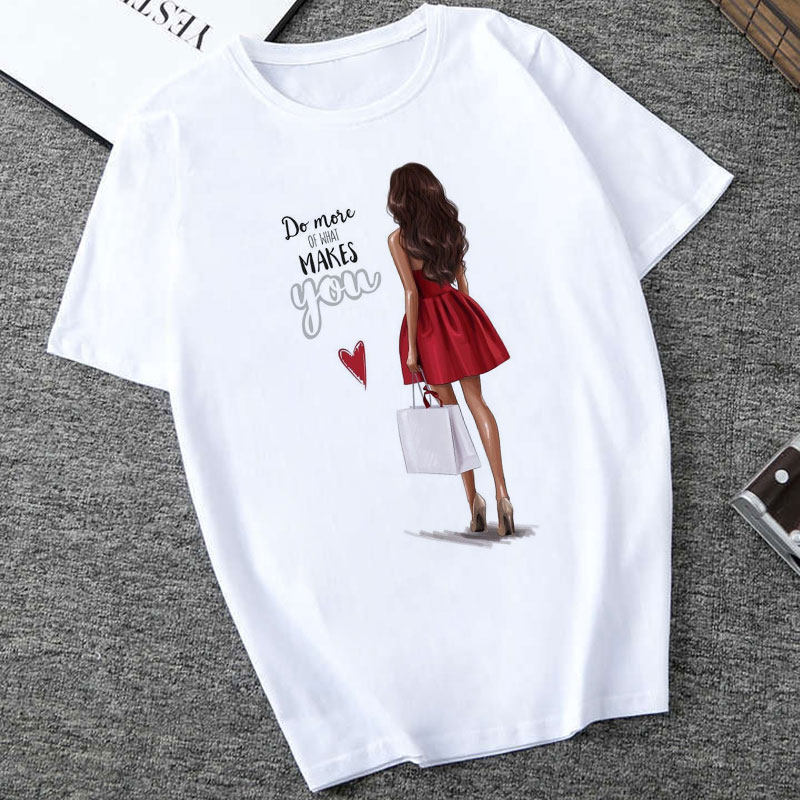 Summer Tops For Women 2020 Harajuku Aesthetic Thin Section T Shirt Do Mose Of What Makes You Happy Tshirt Fashion T-shirt