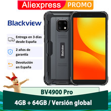 Blackview 4G móvil BV4900 Pro 4GB + 64GB Android 10 5580mAh NFC teléfono móvil resistente al agua IP68 Octa Core 5.7 pulgadas
