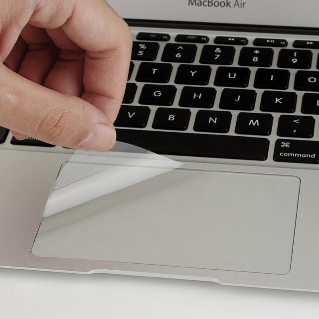 Wysoka wyczyść Touchpad folia ochronna naklejka Protector dla Apple macbook air pro 13 15 tanie i dobre opinie Deek-Robot CN (pochodzenie) Klawiatury laptopa Zdjęcie Touchpad Protective film Pyłoszczelna Wodoodporna