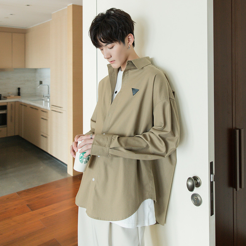 EWQ / Men's Wearcotton And Linen Shirt For Male 2020 Spring Summer New Fashion Handsome Loose Long Sleeve Korean Tops 9Y2427