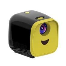 Mini projetor 480x320p casa cheia hd led filme projetor l1 vídeo projetor plugue da ue