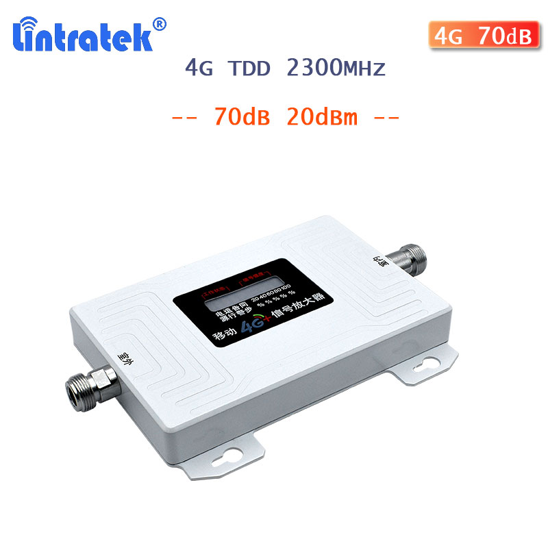 Lintratek TDD 2300MHz 4g Signal Booster Cellular Amplifier  Mobile Cellphone Signal Repeater 70dB ALC Internet Amplifier