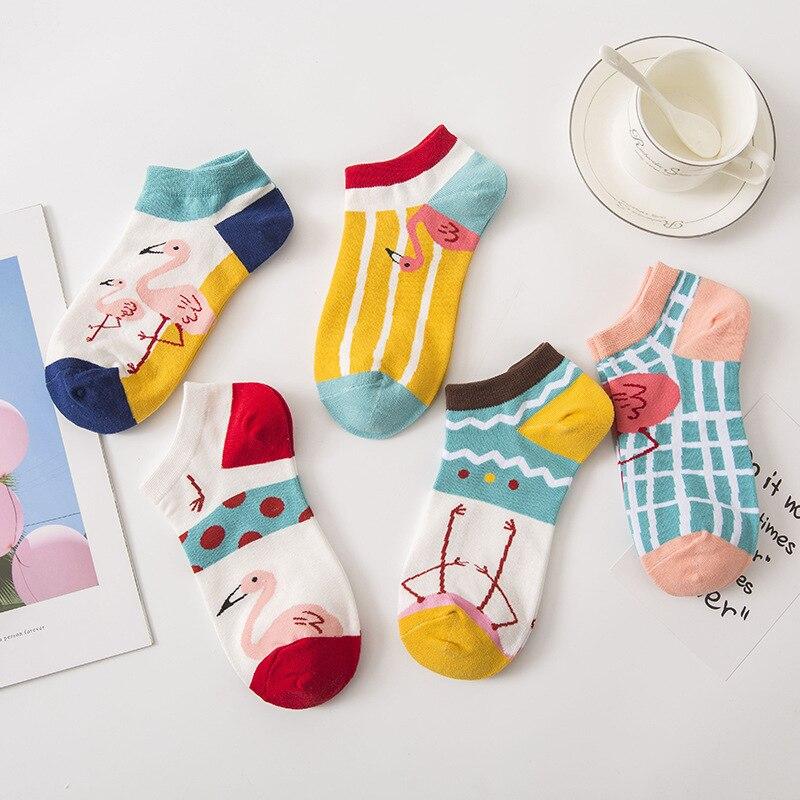Funny Cute Cartoon Short Socks Women Kawaii Femme Sock Woman Animal Pattern Casual Low Ankle Socks Meias