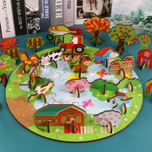 Creative stereoscopic theme 3D Puzzle Games Jigsaw Educational Toys For Children Learning Kids Developing Wooden