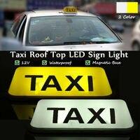 1Pcs LED Taxi Display Signal Anzeige Lichter 12V Wasserdichte LED Licht Lampe Taxi Cab Dach Top Zeichen Topper shell Klebrige Dach Lampe-in Fahrzeugleuchtenmontage aus Kraftfahrzeuge und Motorräder bei