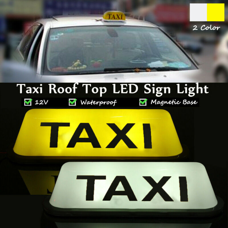1Pcs LED Taxi Display Signal Indicator Lights 12V Waterproof LED Light Lamp Taxi Cab Roof Top Sign Topper Shell Sticky Roof Lamp