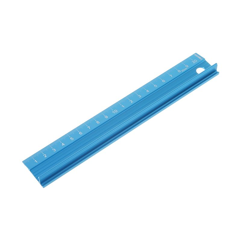 Professional Aluminum Alloy Straight Ruler Protective Scale Measuring Engineers Drawing Tool 3 Sizes LX9A