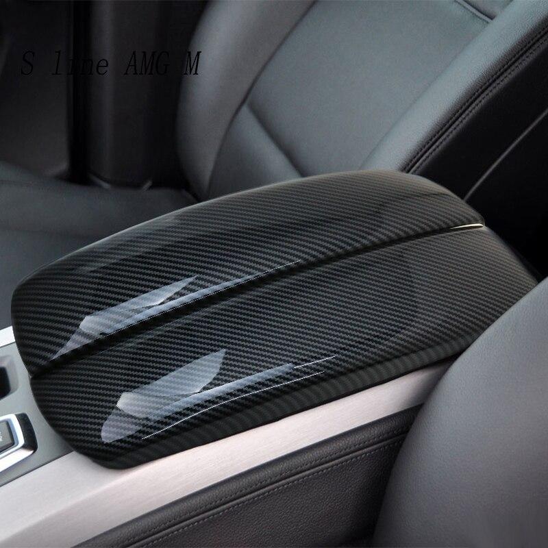 Автомобильный Стайлинг для X5 X6 E70 E71 углеродное волокно укладка подлокотник коробка защита наклейки Чехлы отделка авто аксессуары для интер...