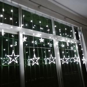 Image 2 - AC110V or 220V Holiday Lighting LED Fairy lights Star Curtain String luminarias Garland Decoration Christmas Wedding Light 3M
