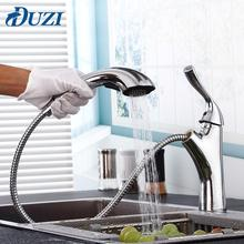 Pull Out Sprayer Single Lever Sink Mixer Tap Chrome Polished Copper Kitchen Faucet For Kitchen Sink Mixer Cold &Hot Water Faucet chrome polished kitchen sink mixer tap two spouts single handle one hole kitchen faucet