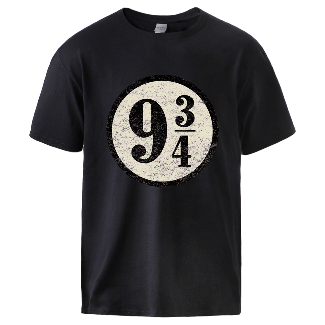Nine And Three Quarters Tshirt for Man 2020 Summer Platform 9-3/4 Hogwarts 100% Cotton Sportswear Top Tee Male Causal Streetwear image