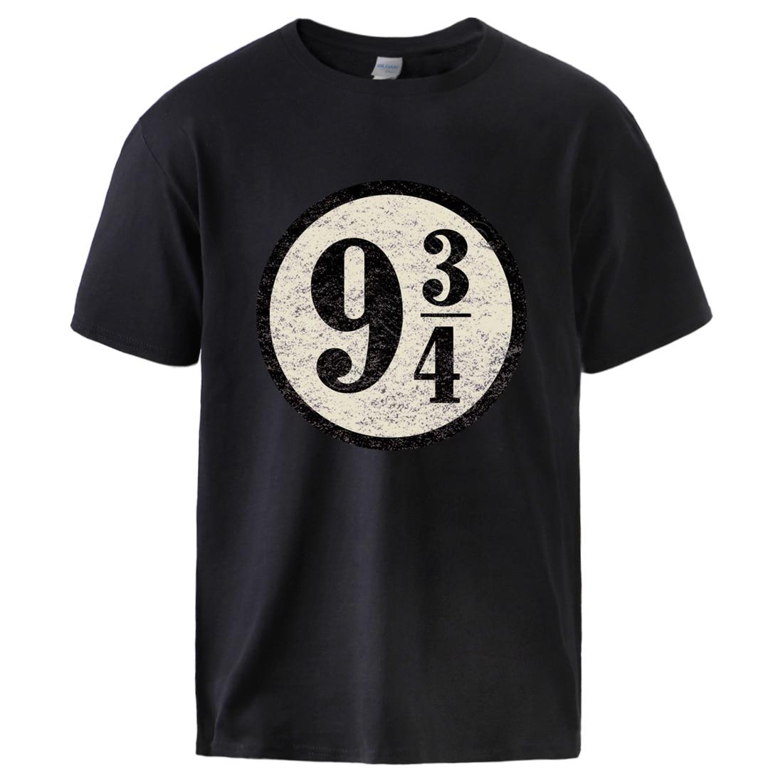 Nine And Three Quarters Tshirt For Man 2020 Summer Platform 9-3/4 Hogwarts 100% Cotton Sportswear Top Tee Male Causal Streetwear