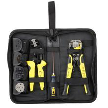 DishyKooker Paron JX-D4301 Wire Strippers Tool set Ratchet Terminals Crimping Pliers 4 In 1(Canvas Bag Packing)