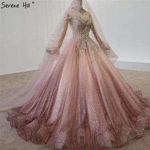 Image 3 - Gradual Change Pink Luxury High end Wedding Dresses 2020 Diamond Beading Sexy Bridal Gowns HX0074 Custom Made