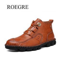 2019 nuevo primavera otoño Vintage clásico cuero genuino hombres zapatos Casual Zapatillas altas para hombre Calzado cómodo