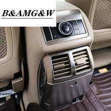 Car Styling Rear Armrest box vent frame outlet decoration cover stickers Trim for Mercedes Benz R Class W251 R300 320 350 400