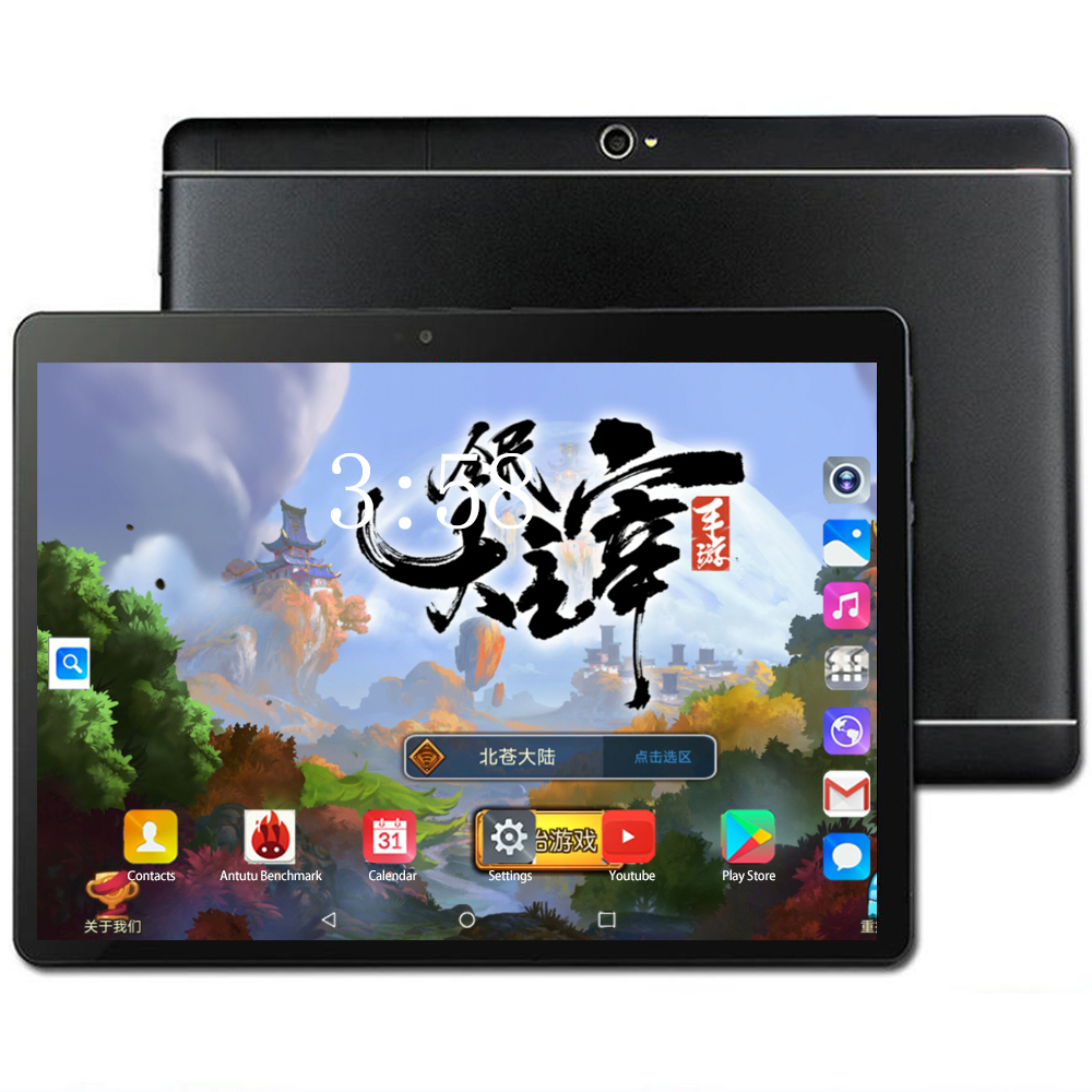 2020 New 4G LET Phablet 10.1 Inch Tablet PC Android 8.0 Octa Core 6+128GB Dual SIM Card 1280*800 IPS WIFI Bluetooth Tablets 10