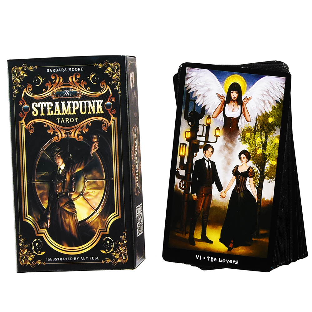 The Steampunk Tarot Cards Deck Oracle Guide Book 78 Tarot Cards By Barbara Moore And Aly Fell